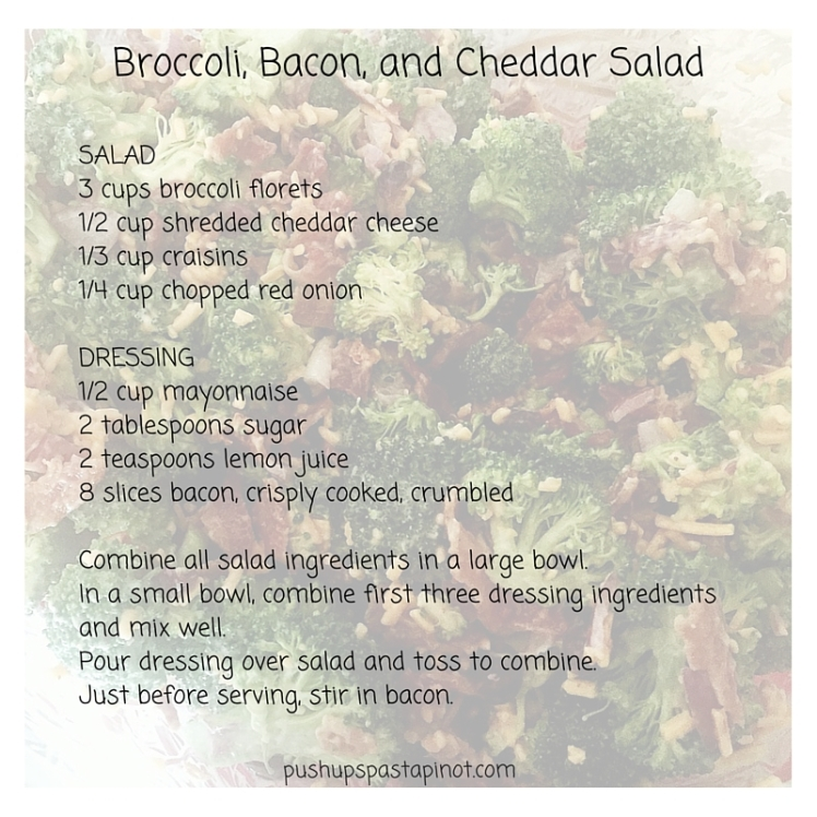 Broccoli, Bacon, and Cheddar Salad recipe