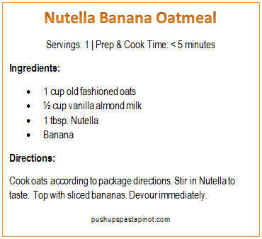 nutella banana oatmeal
