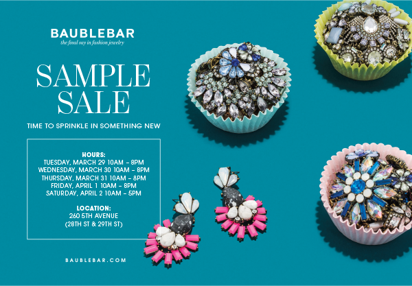 bauble bar sample sale