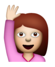 hand raised emoji