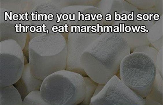 sore throat marshamallows